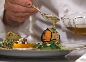 Golden Globes ceremony: Beverly Hilton's Executive Chef Suki Sug