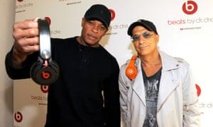 Beats execs Dr Dre and Jimmy Iovine.