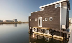Floating houses in Ijburg, Amsterdam built to combat sea level rise.