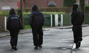 Young people on a council estate