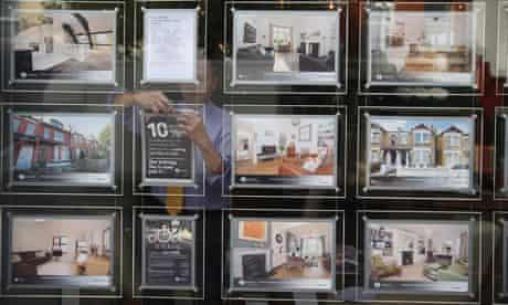 Homes for sale advertised at an estate agents