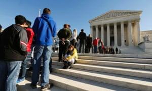 Public line at supreme court