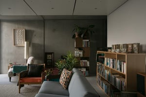 Homes - Concrete house: living area in concrete house