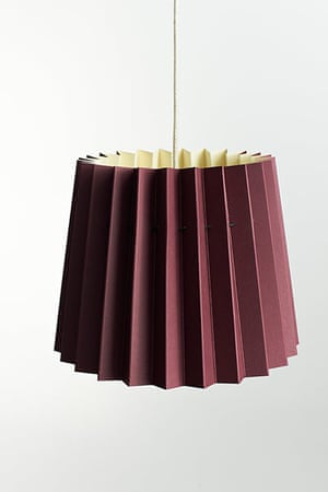 Homes - warm front: burgundy lampshade