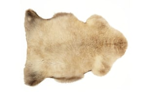 Homes - warm front: cream coloured sheepskin rug