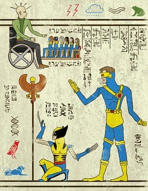 Josh Lane Hero-glyphics: X-Men