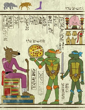 Josh Lane Hero-glyphics: Teenage mutant ninja turtles