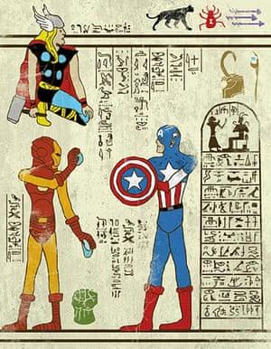 Josh Lane Hero-glyphics: Avengers