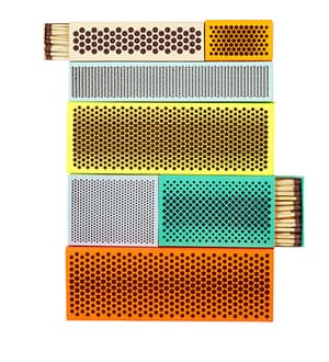 homes - warm front: matchboxes of different colours