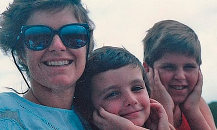 Justin St Germain with his mother Deborah, and brother, Josh