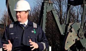 Boring snoring … Dave visiting a fracking site.