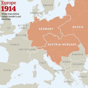 Europe 1914 map