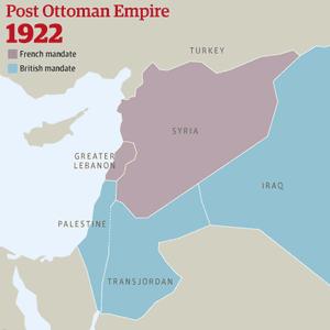 Ottoman empire 1922 map