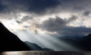 Light over Ullswater in the Lake District