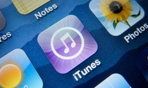 iPhone showing iTunes app
