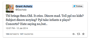 Chef Grant Achatz's tweet about the incident.