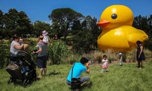 Sydney festival rubber duck