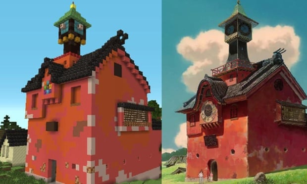 Minecraft Fan Spends Years Recreating Spirited Away Games The Guardian