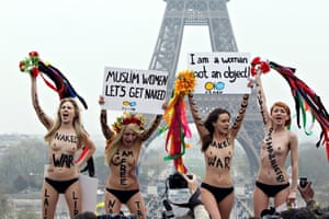 FEMEN protesters in Paris