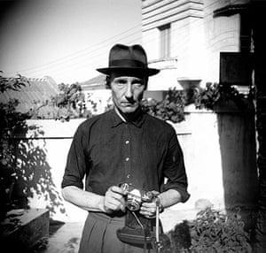 Burroughs: Unknown Photographer, Burroughs in the Villa Mouniria Garden, Tangier