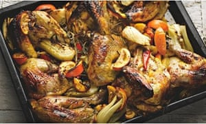 Roast guinea fowl with Seville orange and red chilli