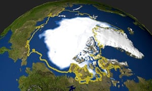 Nasa image of Arctic sea ice