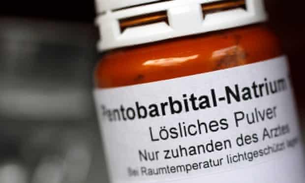 Sodium pentobarbital container