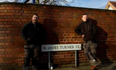 Visitors pose in James Turner Street 2