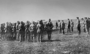Role call (of the German army) at the Rheims front