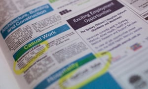A Thursday, May 9, 2013 file photo of job advertisements in a newspaper in Canberra. Unemployment has risen 0.2% to 5.7%, Thursday, July 11, 2013. (AAP Image/Lukas Coch)