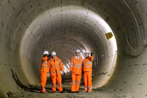 Hi-vis: PM David Cameron and Mayor of London Boris Johnson during a visit to a Crossrail construction site underneath Tottenham Court Road in central London.