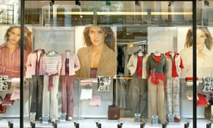A clothing shop on the high street