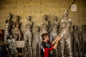 Well endowed mannequins: Workers construct mannequins at Eliezer Alvarez's workshop in Valencia