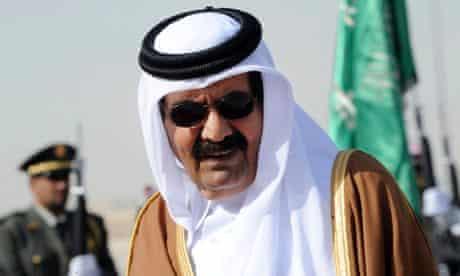 The emir of Qatar, Sheikh Hamad bin Khalifa al-Thani