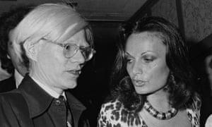 Artist Andy Warhol and Diane von Furstenberg.