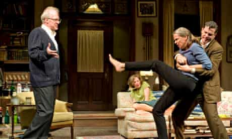 Letts <em>(left) </em>in Who's Afraid of Virginia Woolf? at the Booth Theatre, New York.