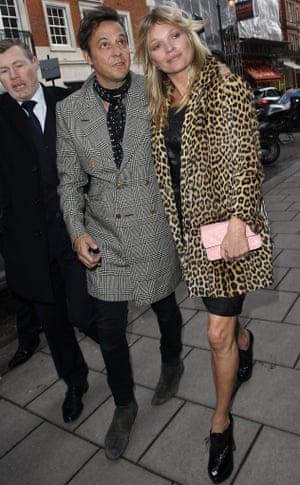 It's Kate Moss's 40th and here she and Jamie Hince arrive at 34 in London to celebrate.