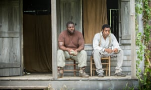 Bestdirector Steve McQueen nominee and best actor nominee Chiwetel Ejiofor during the filming of 12 Years A Slave.