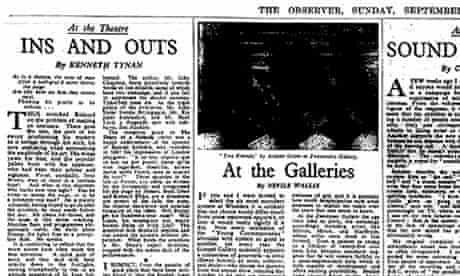 Kenneth Tynan's first column, as it appeared in the Observer on 5 September 1954