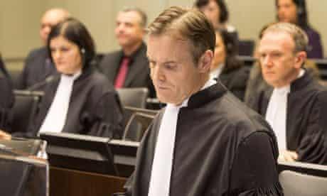 Lead prosecutor Norman Farrell at the trial over the murder of former Lebanese PM Rafik Hariri