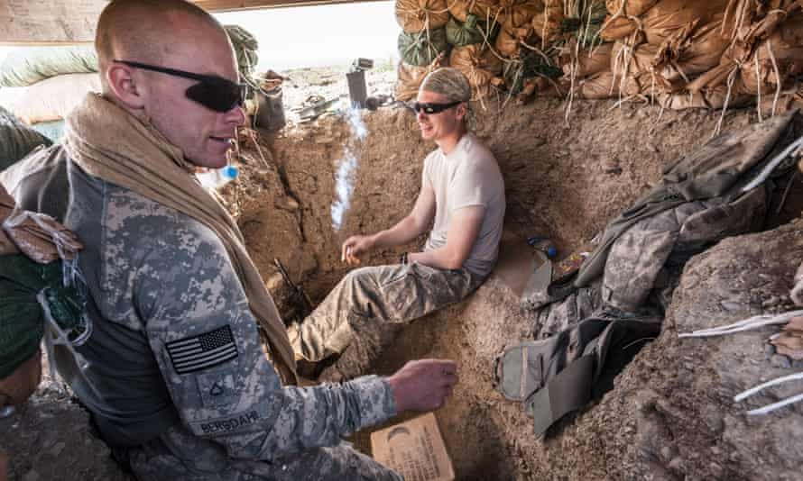 Bergdahl (left) was a reflective and thoughtful soldier, Sean Smith found.