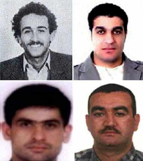 The men accused of Rafik Hariri's assassination