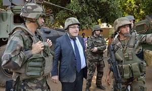 French ambassador Charles Malinas visits Bossangoa in the Central African Republic