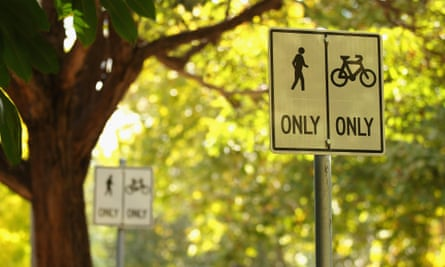 Cycling signs in Sydney.
