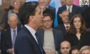 Ed Miliband making his speech on the banks on 17 January 2014.