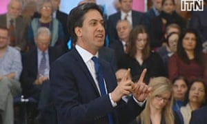 Ed Miliband delivering his speech on banking on 17 January 2014.