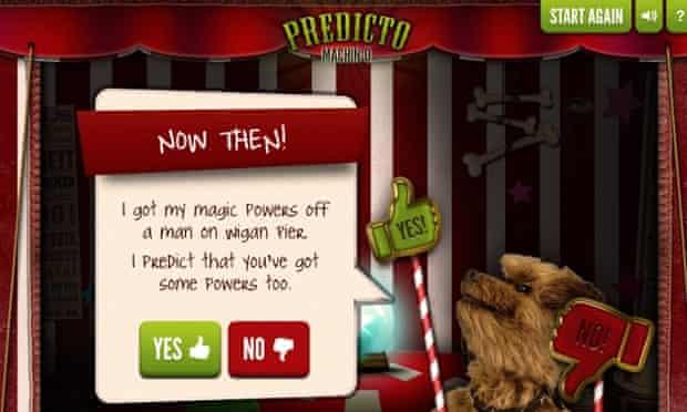 Hacker makes a prediction in the Predicto Machino