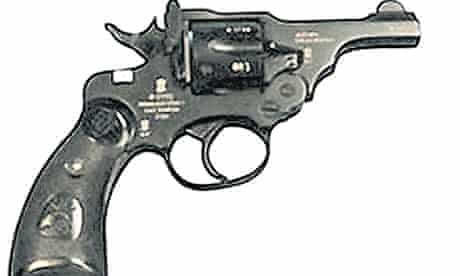 The Nirbheek gun designed for women: comes in a bejewelled maroon case.