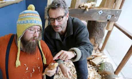 Jon Henley with 'Spoon Man' Barn Carder