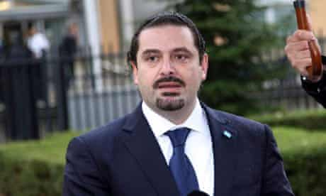 Former Lebanese PM Saad Hariri is seen at the Special Tribunal for Lebanon in The Hague